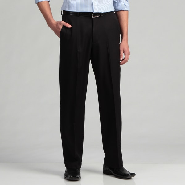 Geoffrey Beene Men's Black Extended Waist Pants