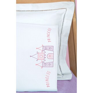 Children's Stamped Pillowcase With White Perle Edge 1/Pkg-Princess
