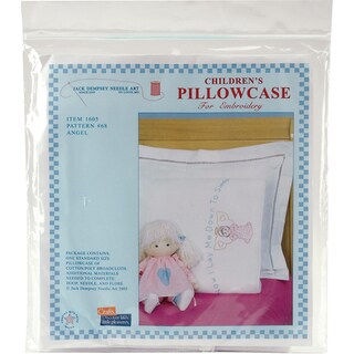 Children's Stamped Pillowcase With White Perle Edge 1/Pkg-Angel
