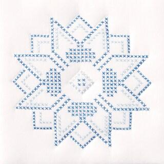 """Stamped White Quilt Blocks 9""""X9"""" 12/Pkg-XXX Stars"""