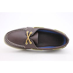 Sperry Top Sider Women's A/O 2 Eye Brown Casual Shoes Wide - Thumbnail 2