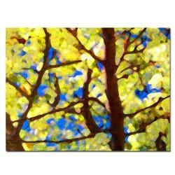 Amy Vangsgard 'Spring Tree' Horizontal Canvas Art