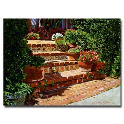 David Glover 'A Spanish Garden' Canvas Art