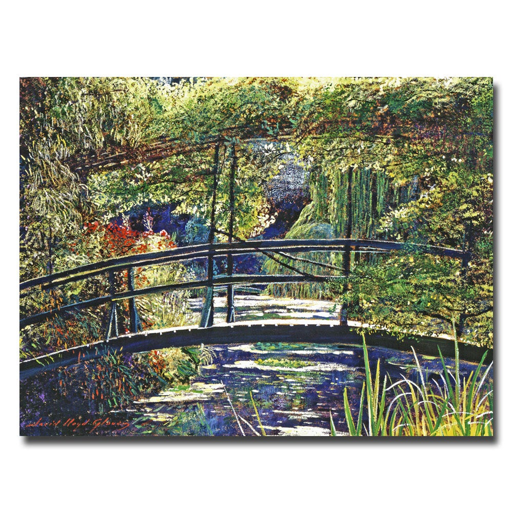 David Lloyd Glover 'Giverny Footbridge' Canvas Wall Art