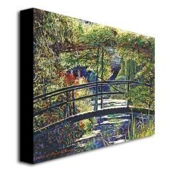 David Lloyd Glover 'Giverny Footbridge' Canvas Wall Art - Thumbnail 1