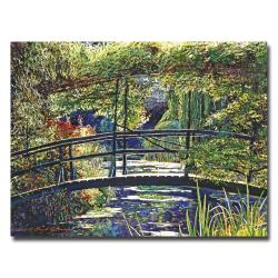 David Lloyd Glover 'Giverny Footbridge' Canvas Wall Art - Thumbnail 0
