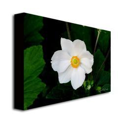 Kathie McCurdy 'Big White Flower' Canvas Art