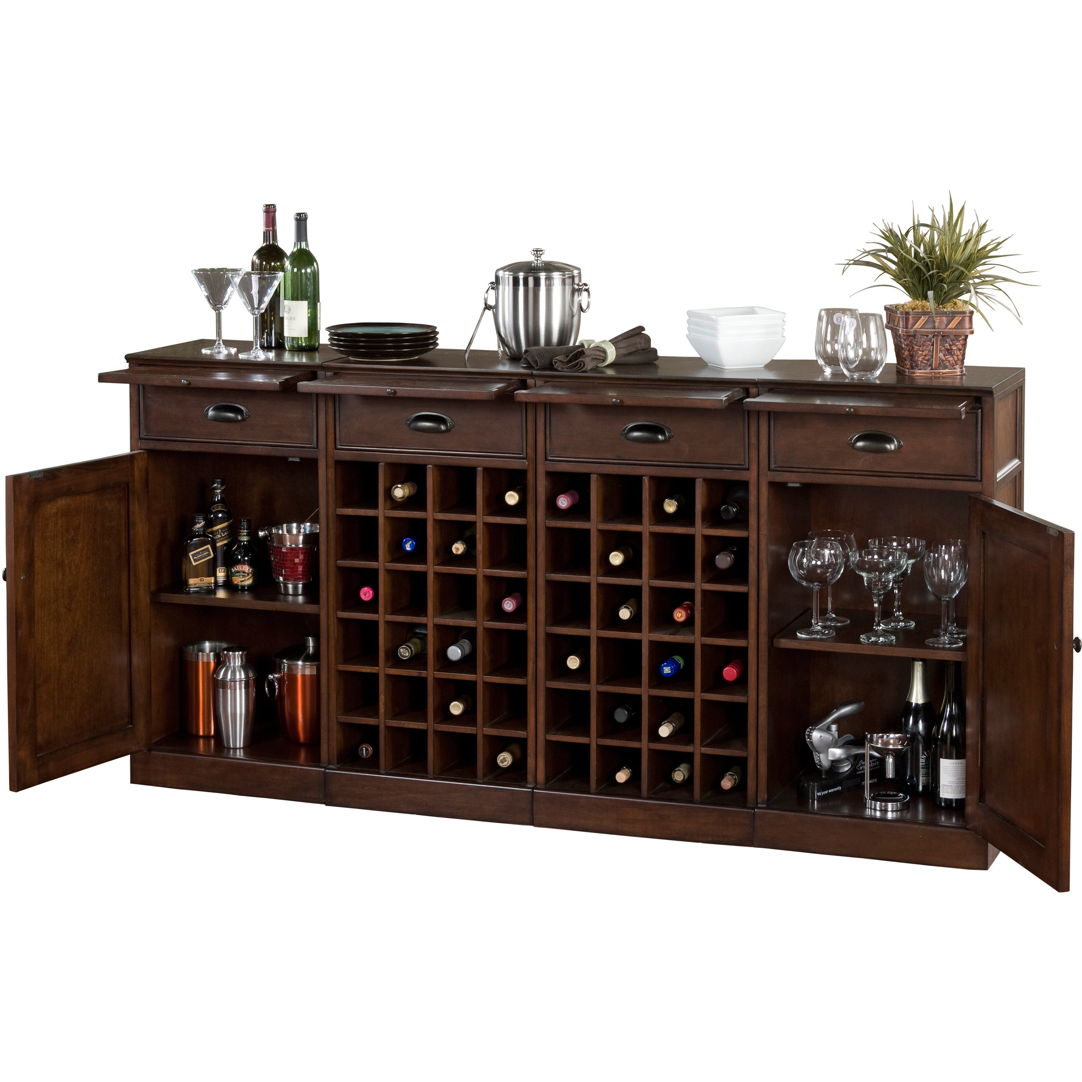 Copper Grove Primula 4 Piece Modular Bar Wine Storage Set