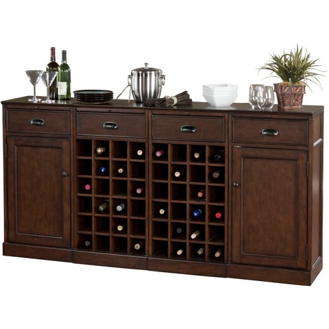 Gracewood Hollow Demaci 4-piece Modular Bar/ Wine Storage Set