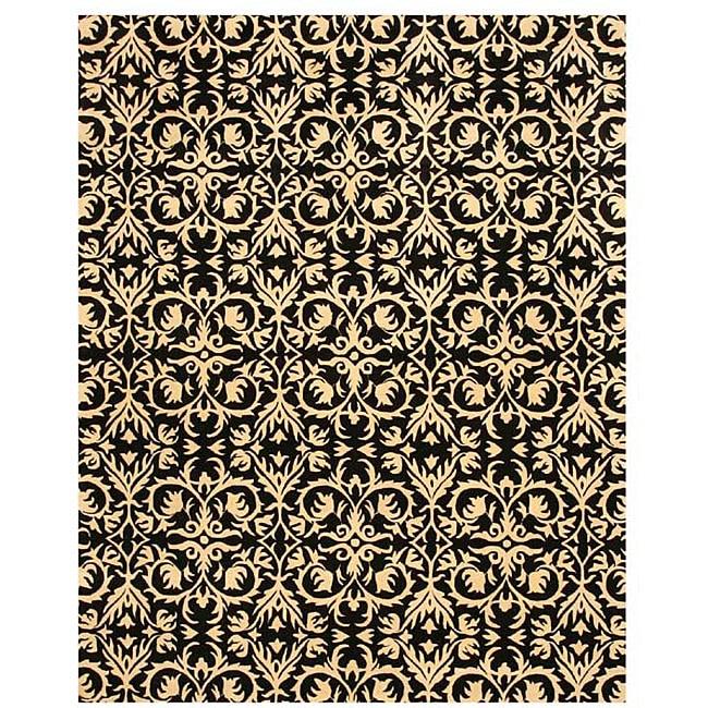 Hand-tufted 'Marla' Black Wool Rug (8'9 x 11'9) - 8'9 X 11'9