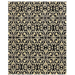 Hand-tufted 'Marla' Black Wool Rug (8'9 x 11'9)