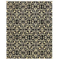 Hand-tufted 'Marla' Black Wool Rug (8'9 x 11'9) - 8'9 X 11'9