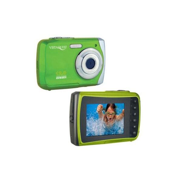 VistaQuest VQ-9100 12MP Green Waterproof Digital Camera