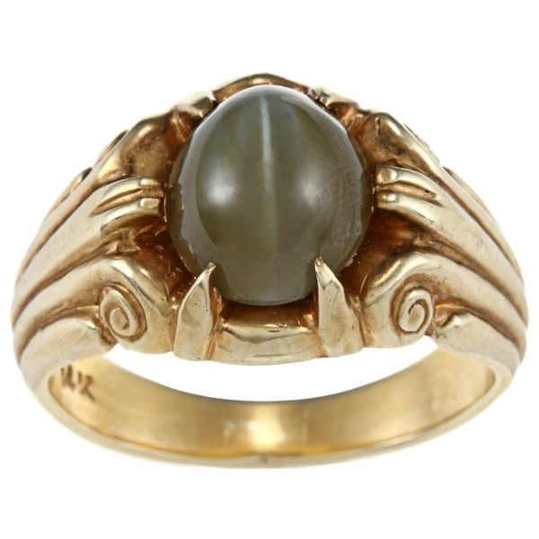 Pre-owned 14K Yellow Gold Cats Eye Estate Ring