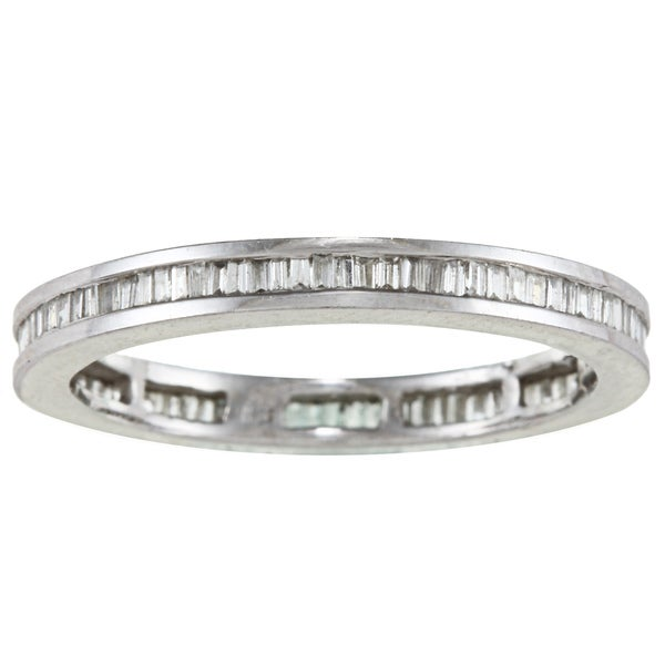 Platinum 4/5ct TDW Eternity Band Ring (I-J, SI1-SI2)