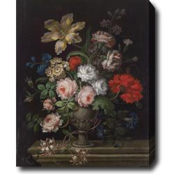 'Flowers in a Vase' Oil on Canvas Art