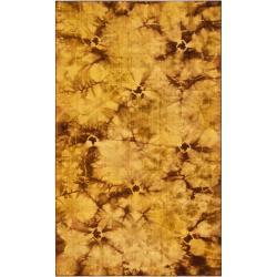 Hand-woven Brown Caparo Street Wool Area Rug (5' x 8') - Thumbnail 0