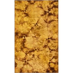 Transitional Hand-Woven Brown Caparo Street Wool Rug (8' x 11')