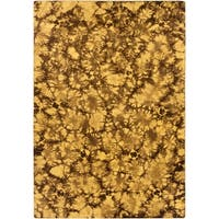 Transitional Hand-Woven Brown Caparo Street Wool Area Rug - 8' X 11'