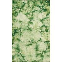 Hand-woven Green Caparo Street Wool Area Rug - 8' x 11'