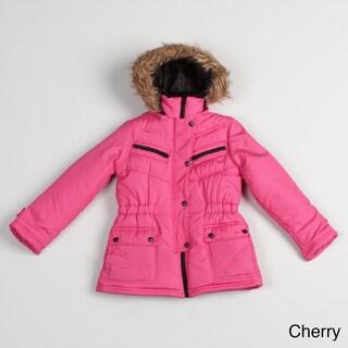 Girl's Faux-fur Hooded Jacket FINAL SALE