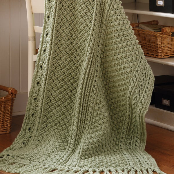 Shop Leisure Arts Aran Afghans To Crochet Free Shipping On Orders