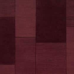 Hand-crafted Solid Casual Burgundy Bertire Wool Rug (9' x 12') - Thumbnail 2