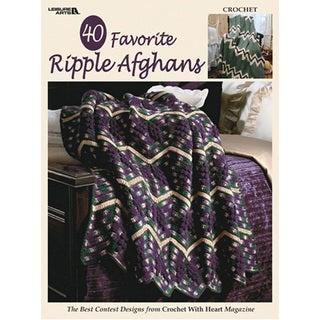 Leisure Arts-40 Favorite Ripple Afghans
