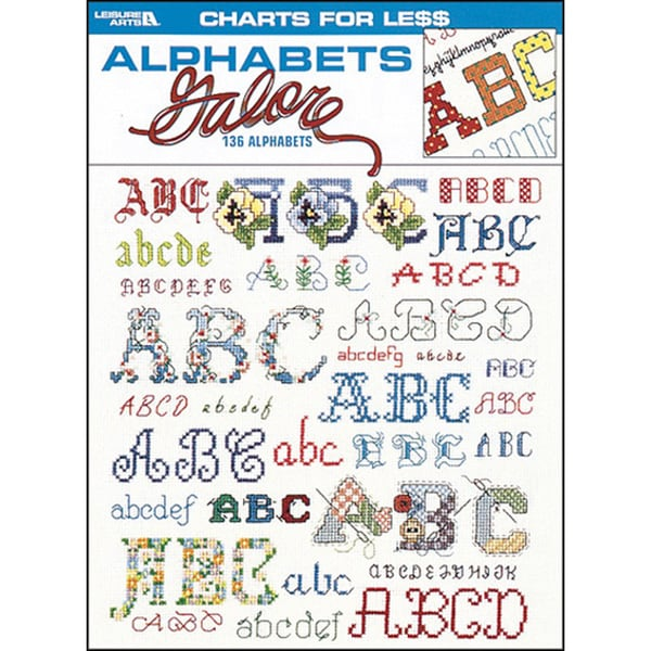 Leisure Arts-Charts For Less: Alphabets Galore