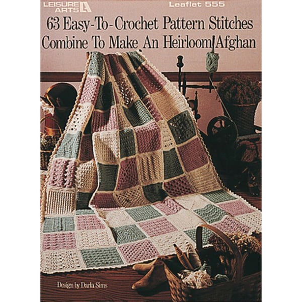 Leisure Arts Easy To Crochet Pattern Stitches Free Shipping On
