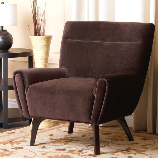 abbyson living malibu dark brown microsuede armchair free shipping