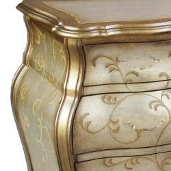 Hand-painted Distressed Gold/ Silver Bombay Accent Chest - Thumbnail 2