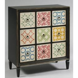 Hand-painted Distressed Brown Accent Chest