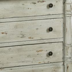 Distressed Vintage White Accent Chest - Thumbnail 1