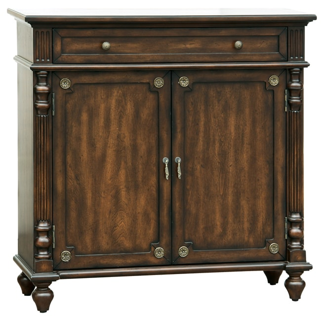 Distressed Walnut Brown Accent Chest