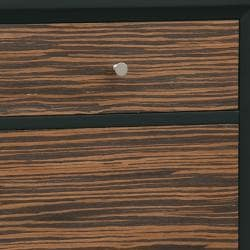 Espresso Brown Finish Accent Chest - Thumbnail 2