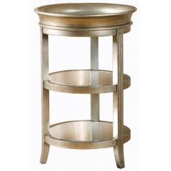 Hand-painted Gold/ Mirrored Tray Table