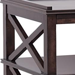 Distressed Espresso Brown Accent Table