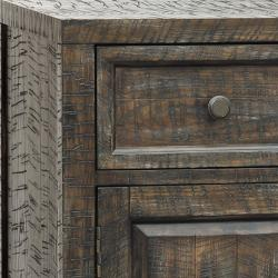 Hand-painted Distressed Rustic Brown Accent Chest