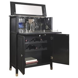 Black Painted Wine Bar Chest