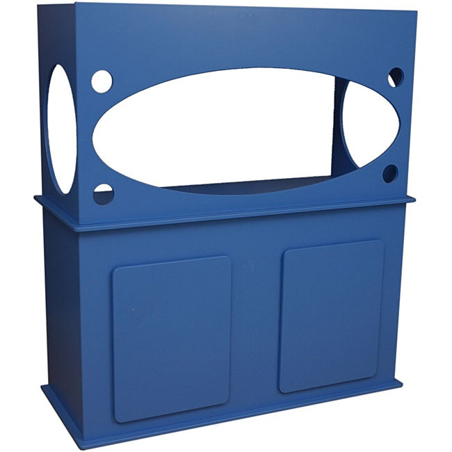 Window View Marine-blue Fiberboard Aquarium Stand with Acrylic Finish