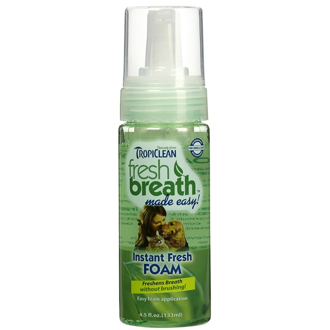 Tropiclean Fresh Breath Fresh Mint Foam for Dogs and Cats (4.5-ounces)