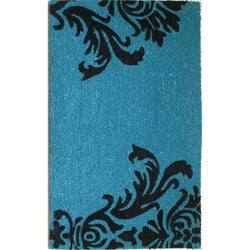 Cocoa Matting 'Neptune' Blue Door Mat (16 x 24)
