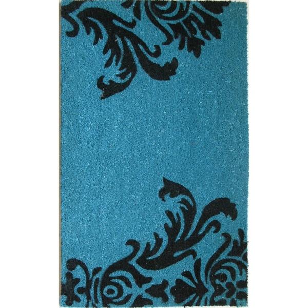 Cocoa Matting 'Neptune' Blue Door Mat (16 x 24)