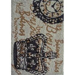 Cocoa Matting 'Large Crown' Grey Door Mat (18 x 30)