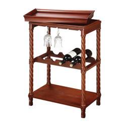 Vintage Cherry Finish Wine/ Bar Cart