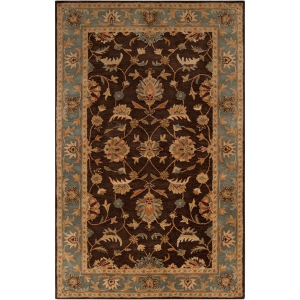 Hand-Tufted Multicolored-Earth-Tone Kings Bay New-Zealand-Wool Area Rug - 9' x 13'