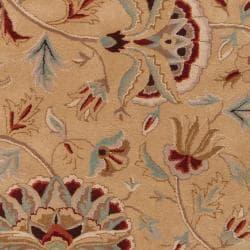 Hand-tufted Brown Sandy Dunes Wool Rug (8' x 11')