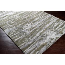 Hand-tufted Green Caparo Street Abstract Wool Rug (3'3 x 5'3) - Thumbnail 1