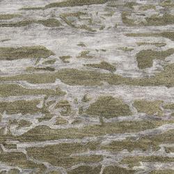 Hand-tufted Green Caparo Street Abstract Wool Rug (3'3 x 5'3) - Thumbnail 2